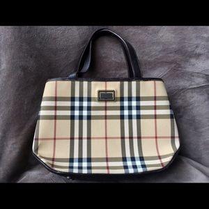 Vintage Burberry Nova Check Tote Bag